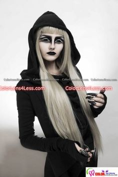 ALL BLACK SCLERA CONTACT LENS. Need this for my Raven costume.