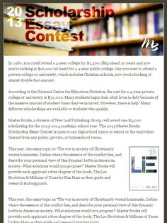 Christianity essay contest