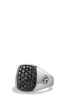 Men's David Yurman Pave Pinky Ring - Black Diamond