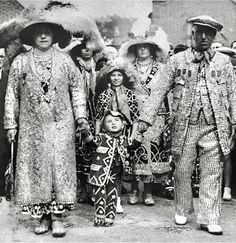 Pearly Kings and Queens attending a service at St Mary's church in Southwark to mark the retirement of Reverend C J Barker, known as the Coster Bishop of Old Kent Road, September London Pride, Old London, Button Crafts, Vintage Pictures, King Queen, Vintage Photographs, Old Photos, Pear, Old Things