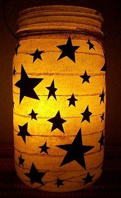 New Primitive Star Lantern Candle Holder camping wedding porch gift teacher