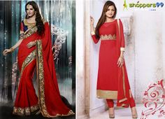 Whats Your Pick ? Suit Or Saree  Get Extra 20% OFF Hurry Up!!!!  Rush Now>> http://www.shoppers99.com/festive_sale