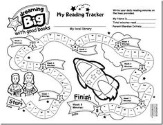 Reading tracker for young kids.  Many more great ideas and printables (free) posted on the website.