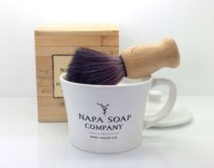 Ceramic Shaving Soap Gift Set from Wine Branch