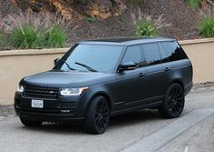 Kylies blacked out Range Rover