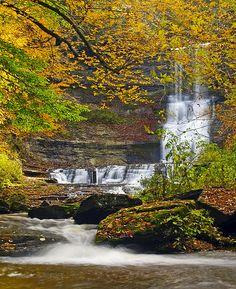Carpenter Falls, south end of Skaneateles Lake, New York by Matt Champlin
