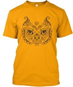 Owl &Amp; Flowers  Gold T-Shirt Front