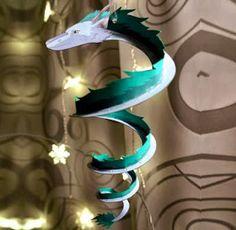 PAPERMAU: Spirited Away - Haku Dragon Papercraft Ornament - by Studio Of MM