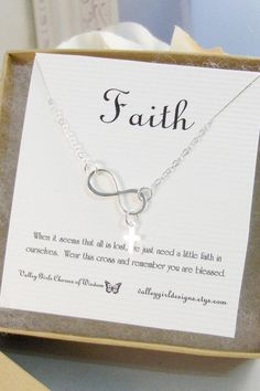 FaithNecklaceBraceletInfinity by ValleyGirlDesigns on Etsy