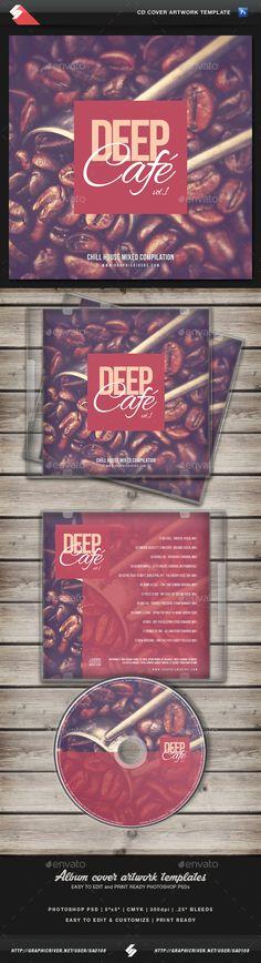 Deep Cafe vol1 - CD Cover Artwork Template