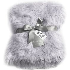Nicole Miller Light Grey Luxury Mongolian Lamb Wool Faux Fur High Low... ($89) ❤ liked on Polyvore featuring home, bed & bath, bedding, blankets, blanket, fur blanket throw, wool throw, fake fur blanket, faux-fur throw and faux fur throw