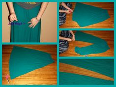 Pictorial how to turn an old Maxi dress into Gouchos/ Plazzio pants