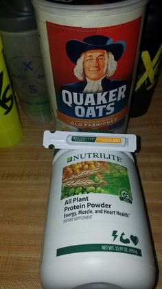 mix all plant protein powder a few drops of 2x fruits and veggies tube to oatmeal...nothing spells loving.