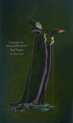 concept for maleficent figurine