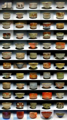 "From my McKnight ""55 Chawan"" show for my 55th Year (five years ago), with 5 more recent bowls"