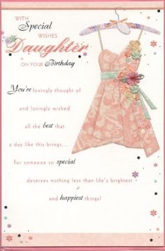 Daughter Birthday Cards Its Your Dresses Hanger Verses Messages Projects To Try Card Making Clothes