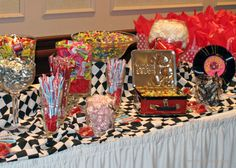 1950s candy table backdrop ideas   ... ! The 'candy bar' re-introduced guests to old candy favorites