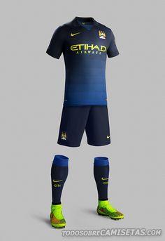 Manchester City Nike Away Kit 2014/2015 | Todo Sobre Camisetas
