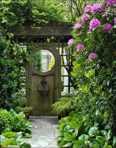 meditation garden entrance gate --A