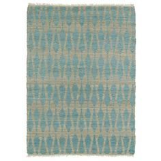 Handmade Natural Fiber Canyon Teal Rug (8' x 11') - Overstock™ Shopping - Great Deals on 7x9 - 10x14 Rugs