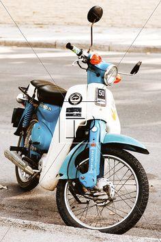 Vintage 60s Honda GLX 50cc Motorbike by IconsPhotographyArt, $30.00