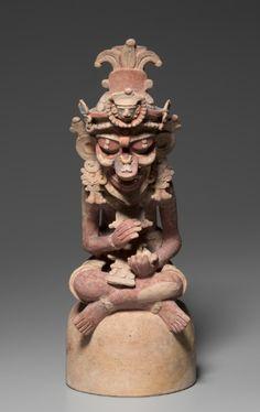 Deity, 250-600 Guatemala, Petén region, Maya style (250-900), Maya style (250-900)