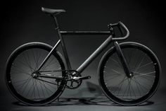 6061 Black Label Matte Black Bicycle : Fixie Bikes | State Bicycle Co.