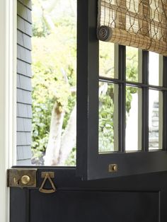 Mill Valley dutch door in the perfect antiqued black. Window Design, Windows And Doors, Front Doors, Garage Doors, Decoration, House Tours, Home Remodeling, Life Hacks, Hygge