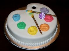 Little Picasso Birthday Party: artist cake