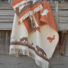 Home Decor, Home Accessories. Decorate your Home with this Charming Rabbit & Fox scenery. Wool is a natural temperature regulator, naturally hypoallergenic, naturally breathable and even improves sleep quality. Cottage Blankets, Throw Blankets, Hunting Lodge Decor, Wool Blanket, Bed Spreads, Decorating Your Home, Christmas Stockings, Home Accessories