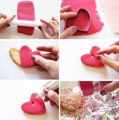 Artlex blog DIY Lyon / diy / Do it yourself / valentine's day /  Saint Valentin / gateau coeur / gourmand /  attrape-coeurs / chocolat, cuisine / cute / déco gateau / heart cookies / recette sucrée / Sablés coeurs / scrapcooking / sweat /cooking / DIY saint valentin sablé coeur