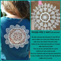 Grab a $1.00 t shirt at the Carousel Shop at 27 W. Calendar Ave. La Grange, IL. Then head over to the Corner Shop (27 Calendar) and pick up a doily starting at $1.00