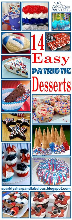 With the Fourth of July right around the corner, have you finalized your menus yet? Regardless if you are hostess or the guest this Fourth of July, I'm sure you can find a recipe below that will suit your needs. 14 Easy Patriotic Desserts for the Fourth of July Images Used: Red, White and Blue …