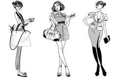 Margaux Motin : Illustrations pour l'agence Virginie - Virginie