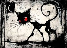 Art Tim Burton, Estilo Tim Burton, Tim Burton Style, Art Om, Black Cat Drawing, Witch Eyes, Illustrations, Illustration Art, Witch Wallpaper