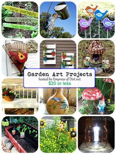 garden art projects for 20 or less, crafts, flowers, gardening, mason jars, repurposing upcycling, See all of the ideas here