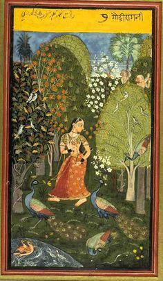 Gauri Ragini.  Bundi, Bundi District, Rajasthan, India. Date: ca 1670 CE