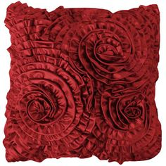 Better Homes and Gardens All-Over Ruffles Pillow at Walmart.com.  Comes in Chocolate Brown and Black too.