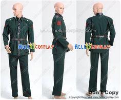 Captain America Red Skull Dark Green Costume Jacket  Pants