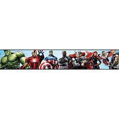 York Wallcoverings DS7841BD Walt Disney Kids II Avengers Border, Pale Blue/Black/Green/Purple/Red/Grey/Brown/Silver York Wallcoverings http://www.amazon.com/dp/B00MR0DOAE/ref=cm_sw_r_pi_dp_lG6wub1T96T83