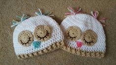 Newborn sleepy owl hat  Check out this item in my Etsy shop https://www.etsy.com/listing/463819673/sleeping-owl-baby-beanie