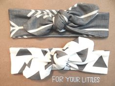 All organic knotted headbands. So cute in Arrows and triangles!