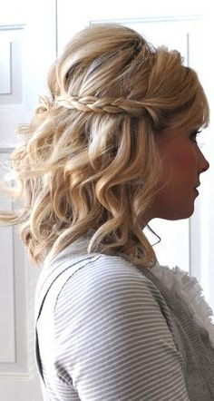 Half Up Braided Crown Tutorial - Wedding Hair Ideas