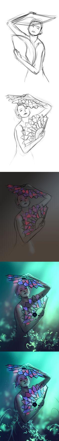 WIP of Butterfly by AquaSixio.deviantart.com on @deviantART