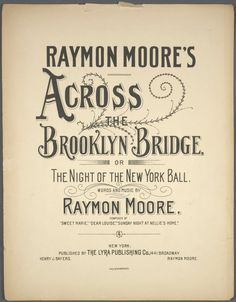 Across the Brooklyn Bridge, or, The night of the New York ball From New York Public Library Digital Collections.