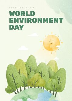 World Environment Day Posters, Good Environment, Phone Wallpaper Images, Learning Websites, Free Illustrations, Earth Day, Watercolor Illustration, Royalty Free Photos, Go Green