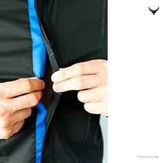 black shirt with electric blue detail | fooriat.com