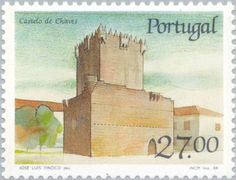 Sello: Castle of Chaves (Portugal) (Castles and Coat of arms of Portugal (9th group)) Mi:PT 1757,Sn:PT 1725,Afi:PT 1849