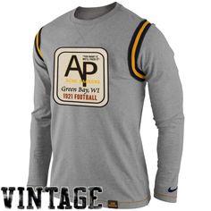 7b6276329 Nike Green Bay Packers Emblem Long Sleeve T-Shirt - Ash