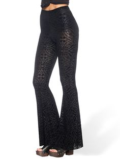 Burned Velvet Bell Bottoms - LIMITED (AU $99AUD / US $70USD) by Black Milk Clothing